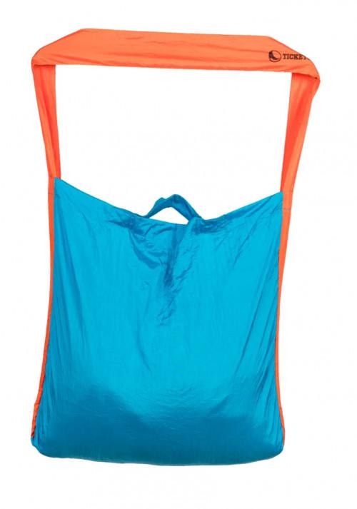 Ticket To The Moon Eco Market Bag Aqua/Orange 46 x 42 cm