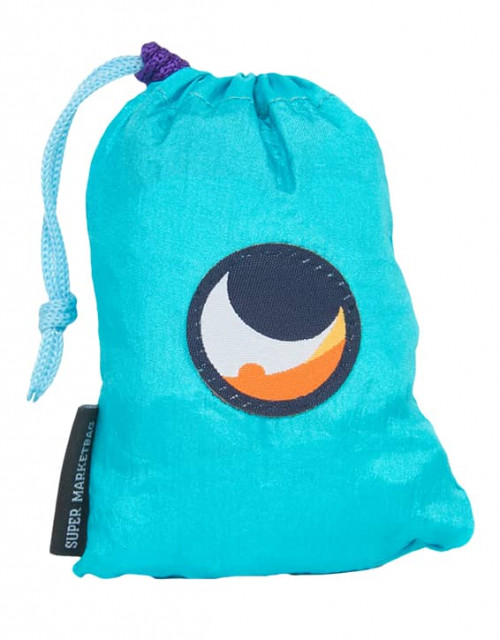 Ticket To The Moon Eco Super Market Bag Turquoise/Purpl 58 x 50 cm