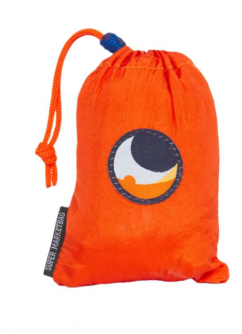Ticket To The Moon Eco Super Market Bag Orange/Light Bl 58 x 50 cm