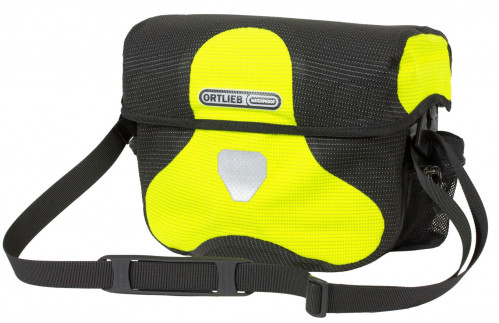 Ortlieb Ultimate Six High Visib. Handlebar Mount Neon Yellow -  Black Reflective 7 L