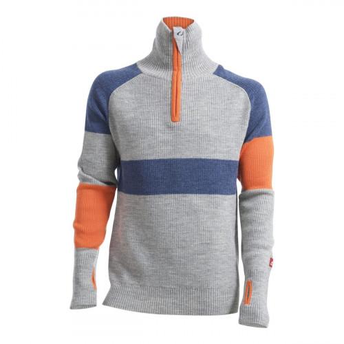 Ulvang Rav Limited Sweater w/Zip Men's Grey Melange/Navy Melange/Coral Rose