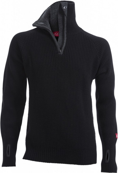 Ulvang Rav Sweater W/Zip Black/Charcoal Melange