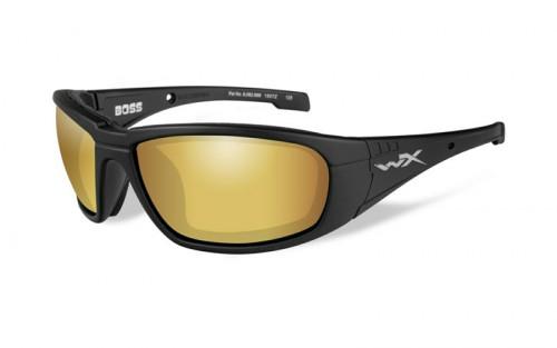 Wiley X BOSS Polarized Venice Gold Mirror, Matte Black Frame