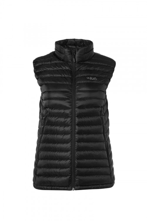 Rab Microlight Vest Womens Black / Seaglass