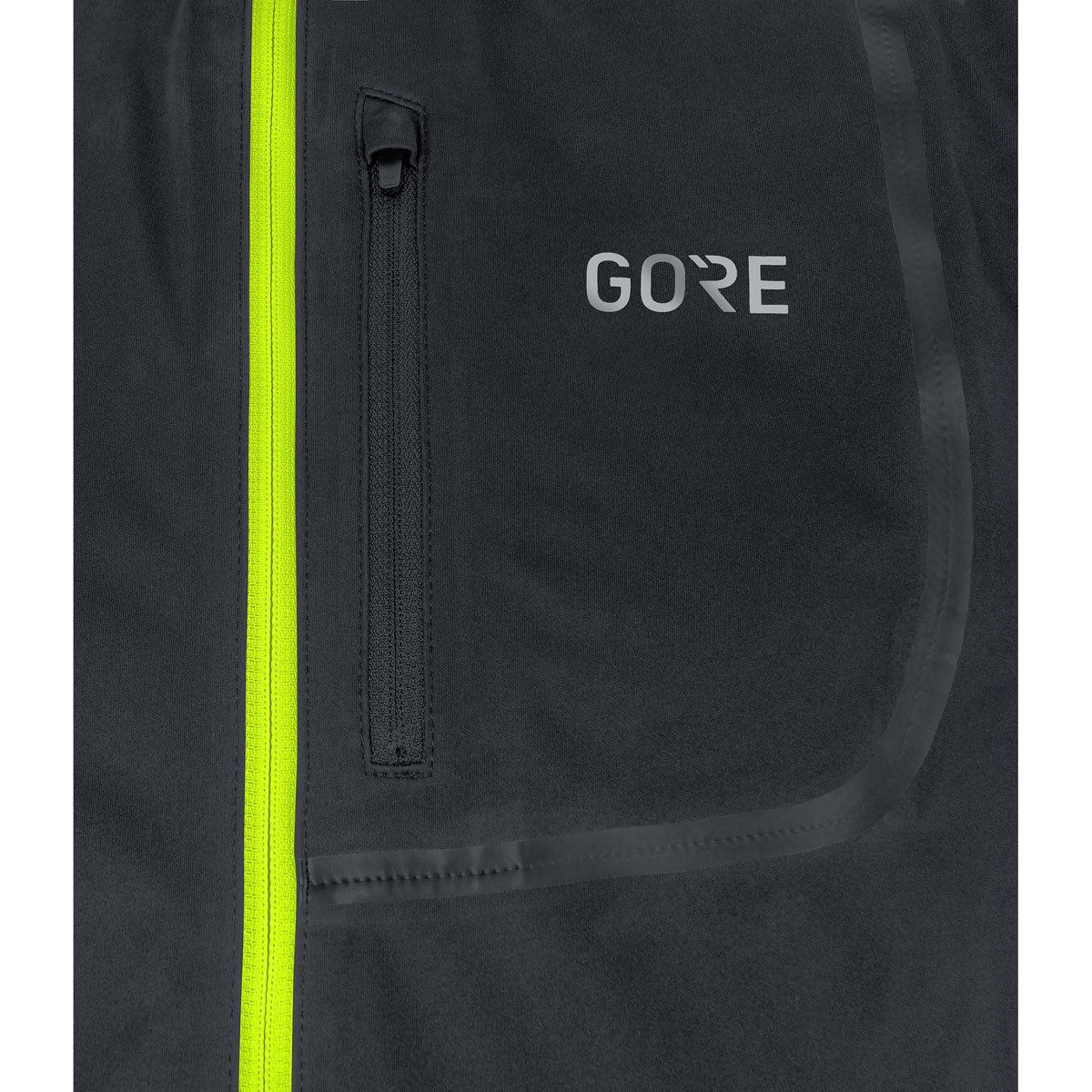 3a237888b Gore® C3 Gore® Windstopper® Jacket Black/Neon Yellow
