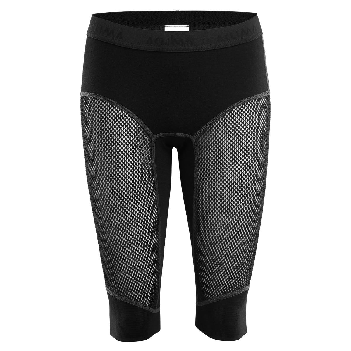 234390a7 Aclima Woolnet Shorts Long, Woman Jet Black   Fjellsport.no