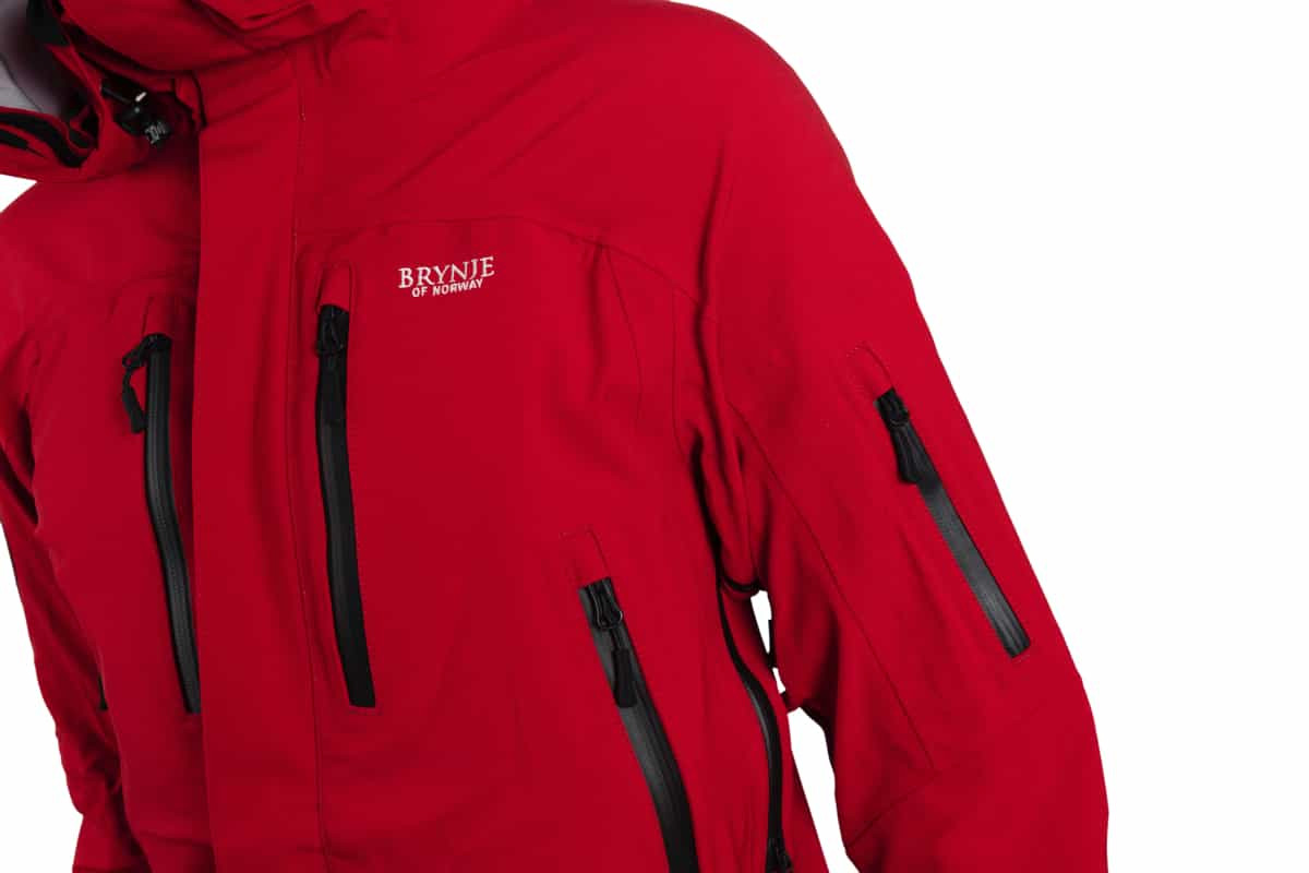 Brynje Expedition Jacket Red | Fjellsport.no