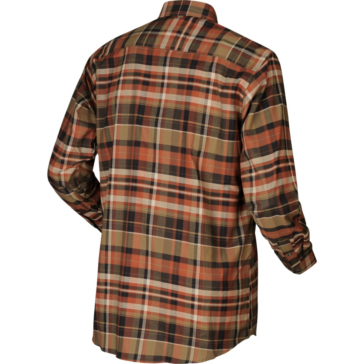 Härkila Newton LS Skjorte Dark Burnt Orange Check