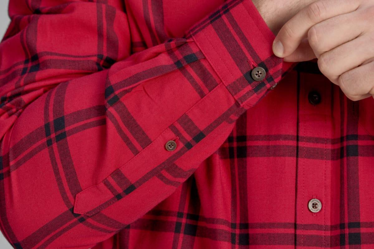 Pinewood Canada skjorte med ruter, Rød Nå ekstra nedsatt