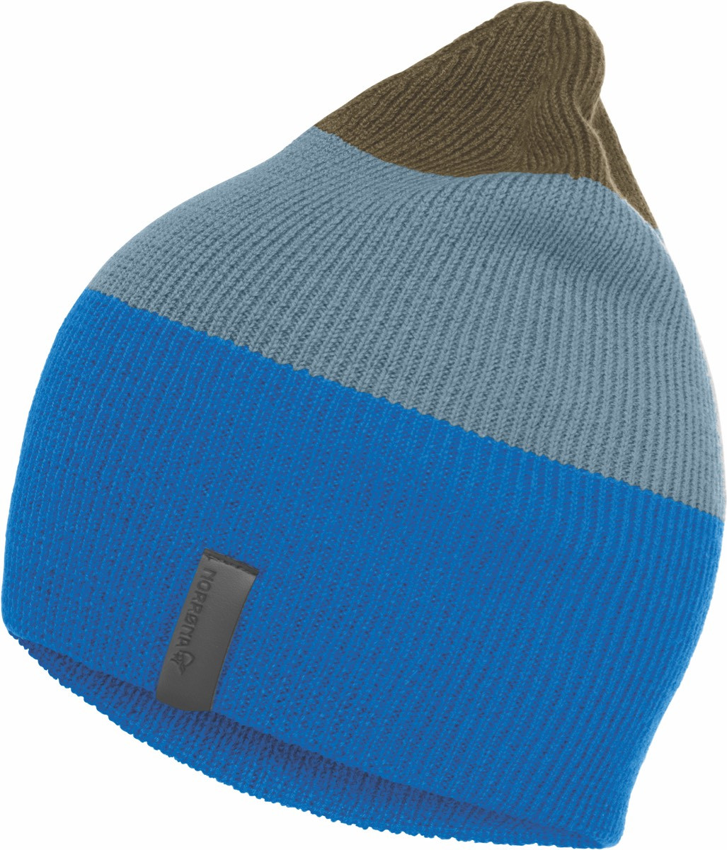 90d099c8791 Norrøna  29 Striped Mid Weight Beanie Hot Sapphire