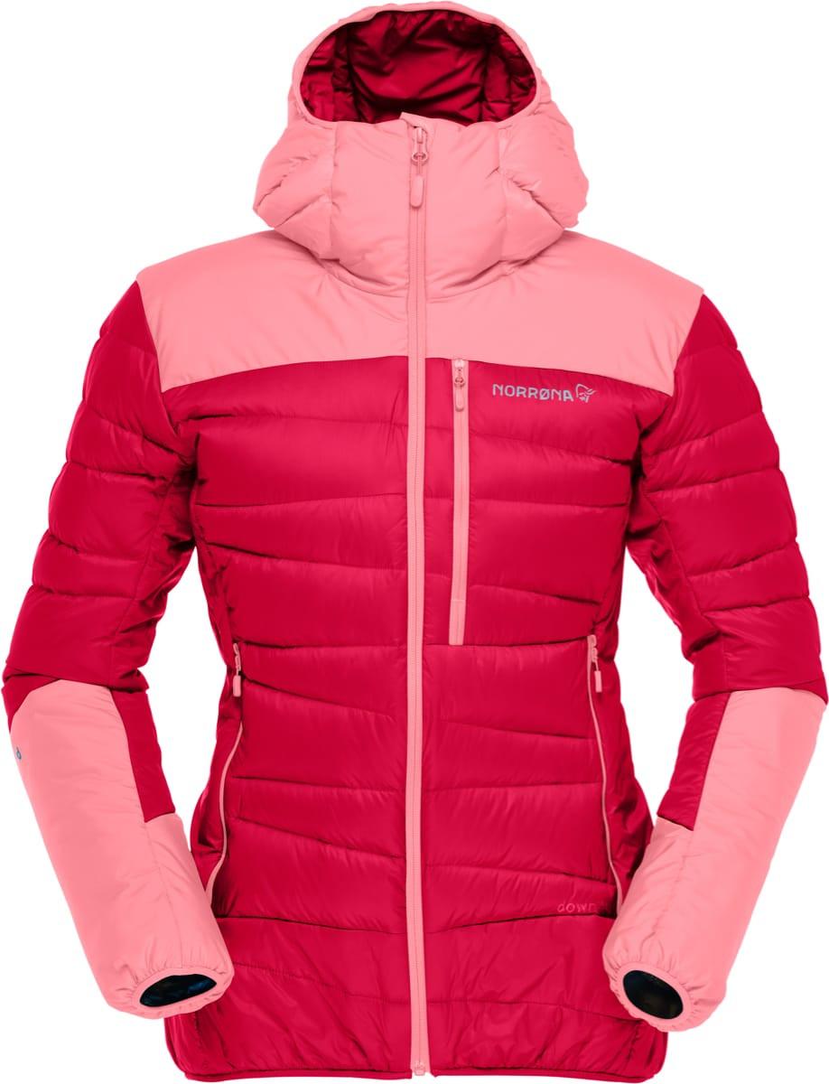923648a6 Norrøna Falketind Down750 Hood Jacket (W) Jester Red | Fjellsport.no