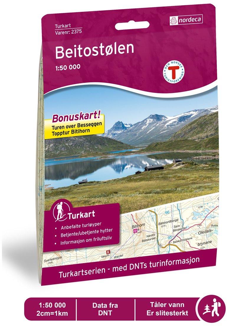 f9f5ba70 Nordeca Beitostølen 1:50 000 Turkart | Fjellsport.no