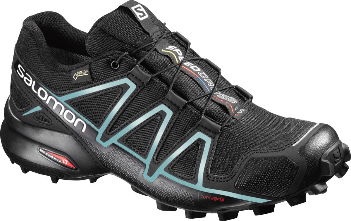 Salomon Shoes Speedcross 4 Gtx Women's BlackBlackMetallic Bubble Blue