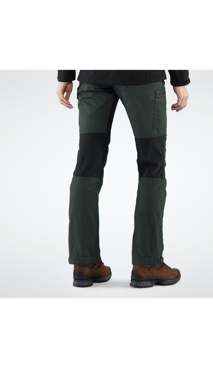 Fjällräven Kaipak Trousers Curved W Dark Garnet Dark Grey