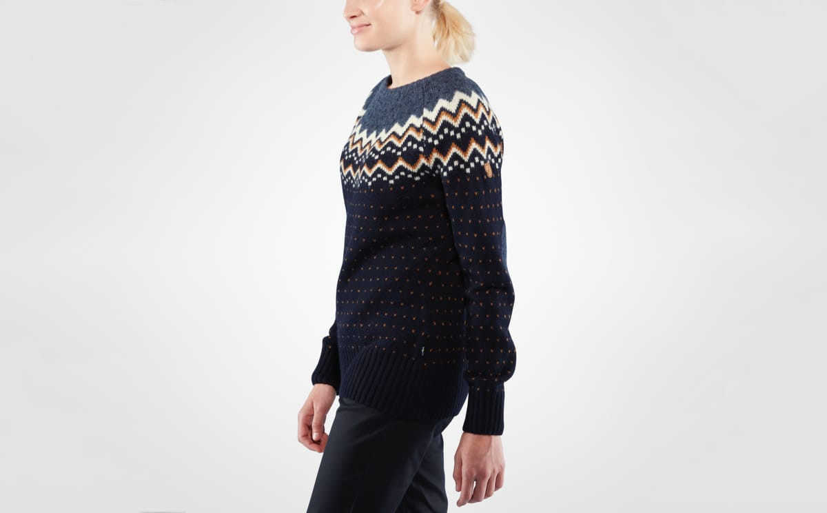 Fjällräven Övik Knit Sweater W. ullgenser dame (Terracotta