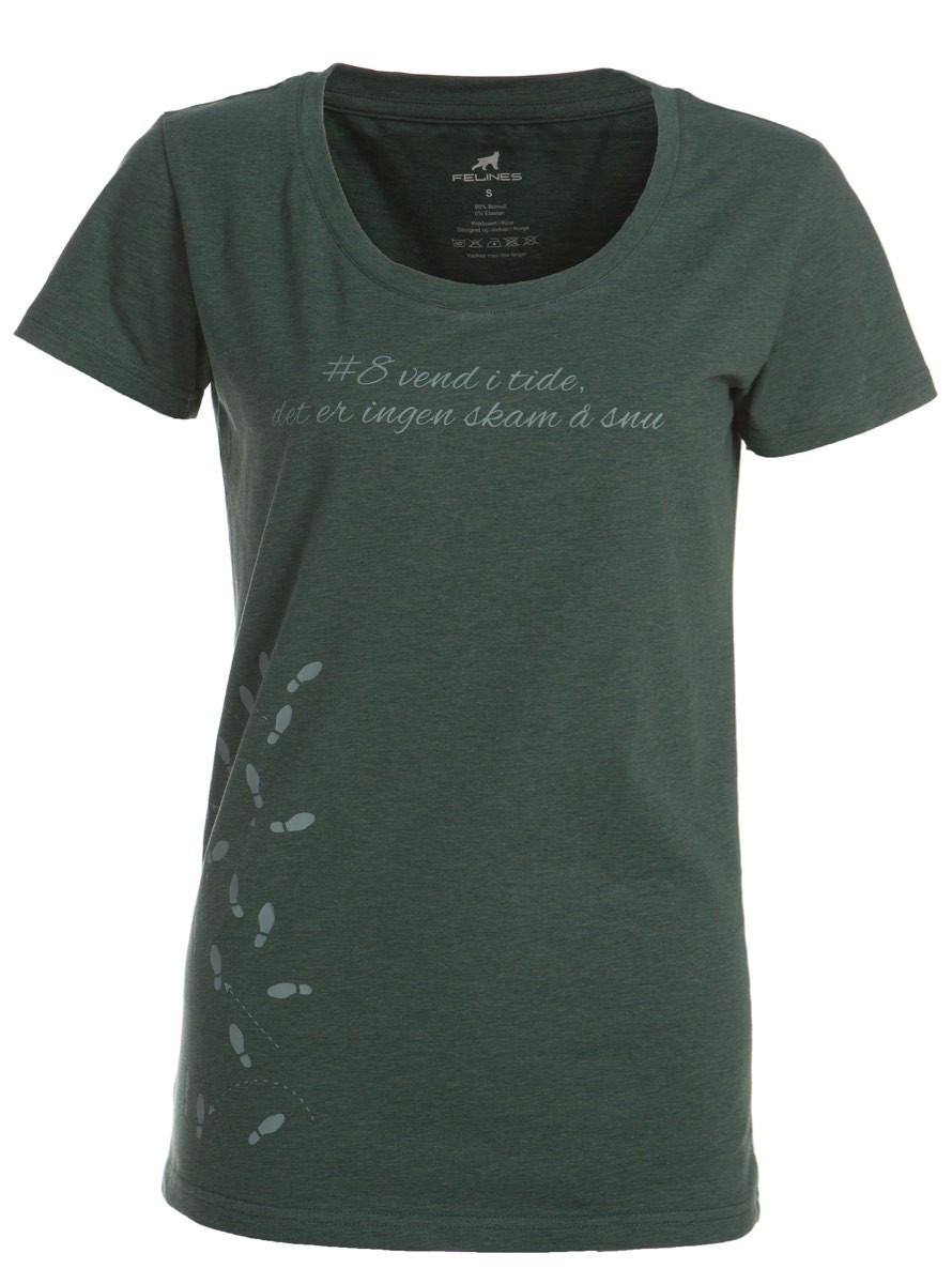 21c2a3f9 Felines W's T-skjorte Med Print Grønn Melert | Fjellsport.no