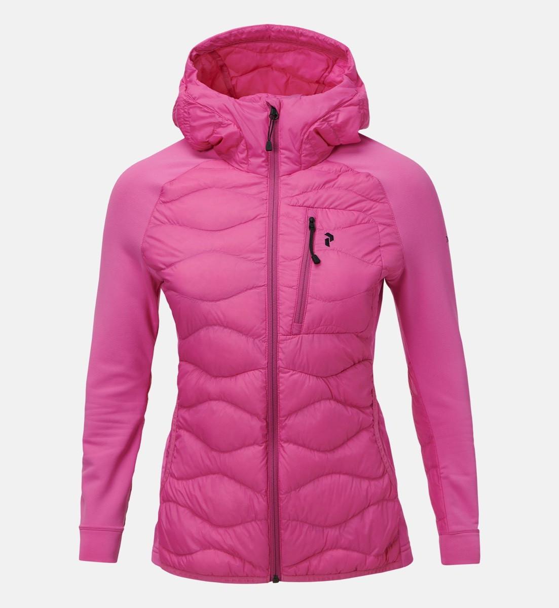 b8e40545ddc ... Peak Performance Women's Helium Hybrid Hood Jacket Vibrant Pink ...