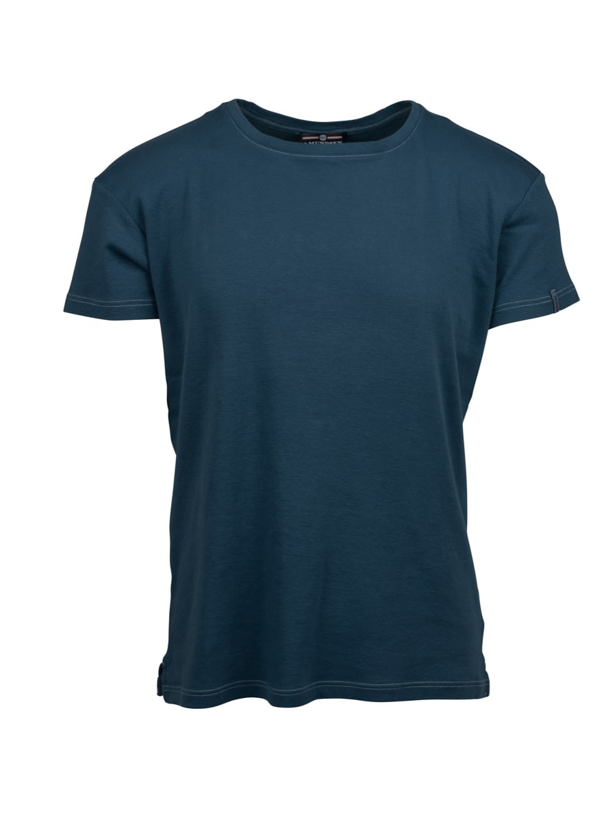 Amundsen Sports Summer Wool Tee Mens Faded Navy G Dyed