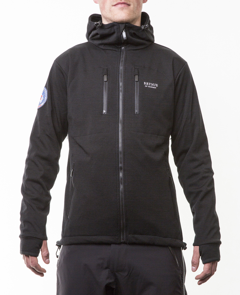 f0d397e3 Brynje Antarctic Jacket w/ hood Black | Fjellsport.no