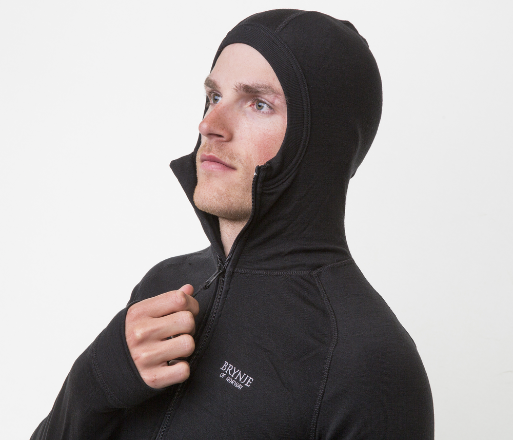 Brynje Arctic Jacket whood Black | Fjellsport.no