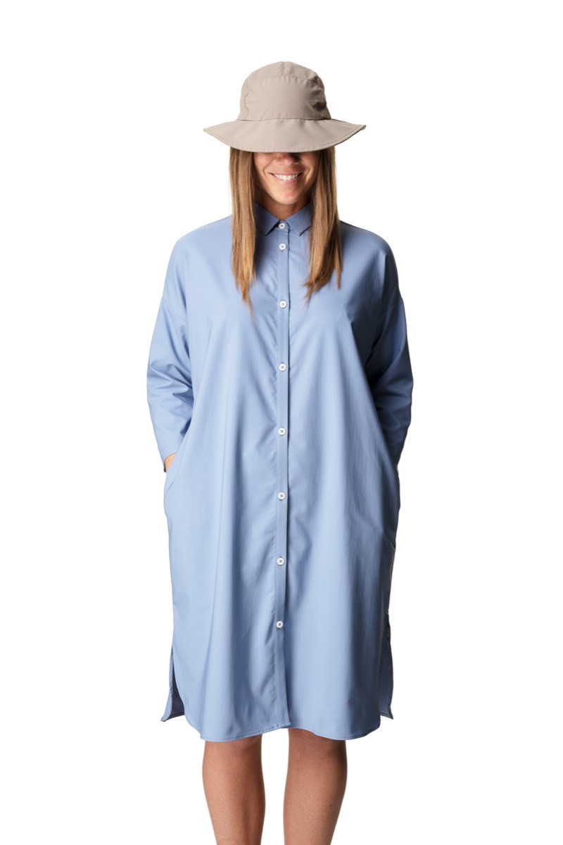 53610227 Houdini W's Route Shirt Dress Up In The Blue | Fjellsport.no