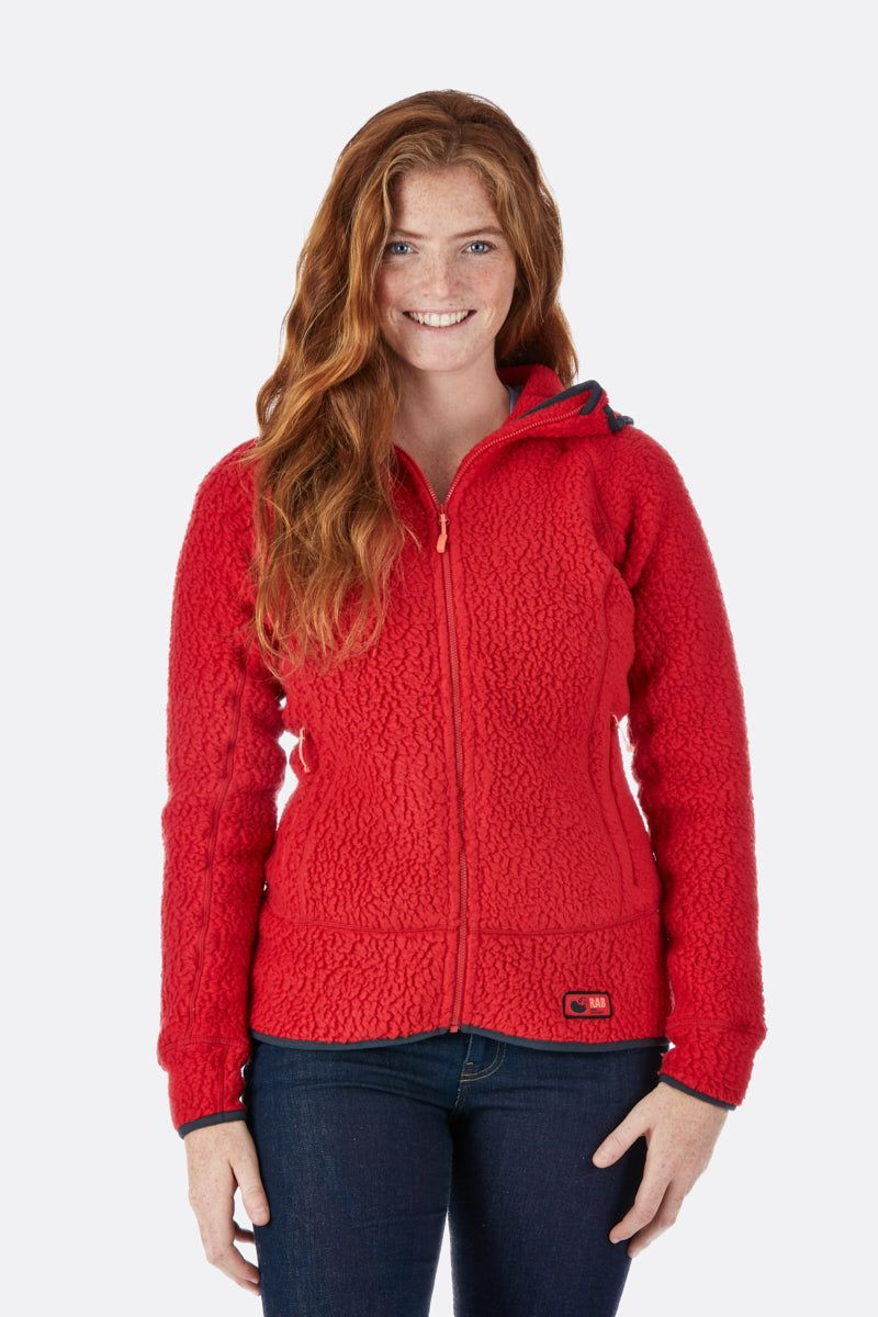 Rab Shearling Jacket Womens Ruby