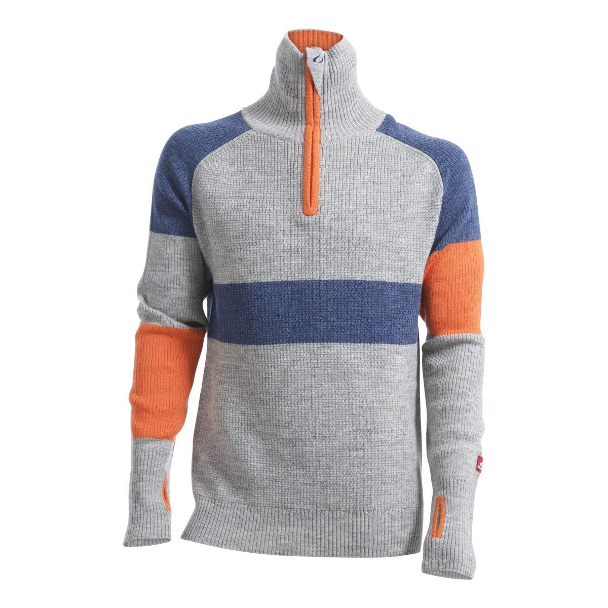 2a5a23b1 Ulvang Rav Limited Sweater w/Zip Men's Grey Melange/Navy Melange/Coral Rose