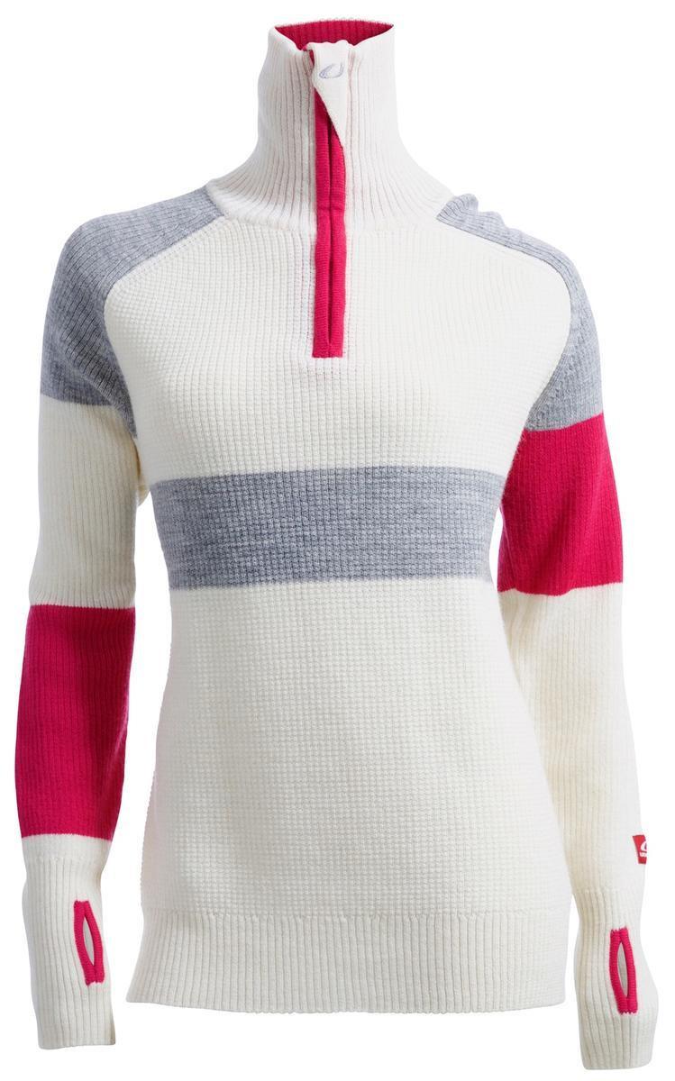 bbff46e1 ... Ulvang Rav Limited Sweater W/Zip Women's Vanilla/Grey Melange/Beetroot  ...