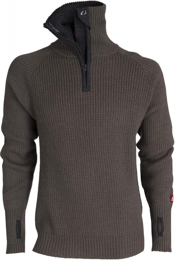 Ulvang Rav Sweater WZip Tea GreenCharcoal Melange