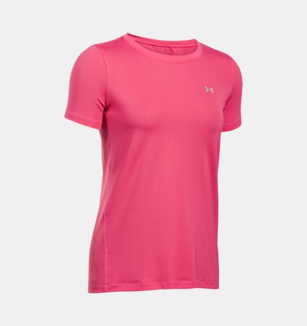 8496af9dd Under Armour Women's HeatGear Armour Short Sleeve Pink Sky/Metallic ...