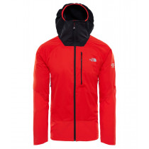 The North Face M Summit L4 Windstopper Hoody Fiery Red/Tnf Black
