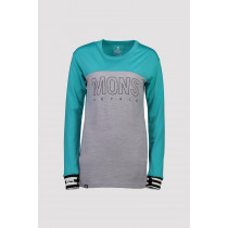 Mons Royale Women's Yotei Bf Tech Longsleeve Tropicana/Grey Marl