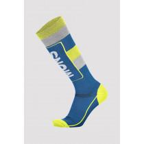 Mons Royale Mons Tech Cushion Sock Oily Blue/Grey/Citrus
