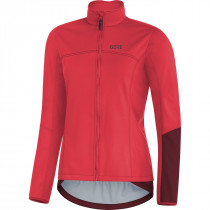 Gore® C5 Women Gore® Windstopper® Thermo Jacket Hibiscus Pink/Chestnut Red