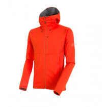 Mammut Ultimate V So Hooded Jacket M Dark Orange-Titanium Melange