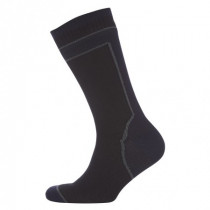 Sealskinz Sokk Mid Weight Mid Length Hydrostop Sort/Grå
