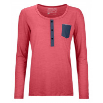 Ortovox 120 Cool Tec Long Sleeve Women's Hot Coral Blend