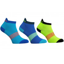 Salming Performance Ankle Sock 3p Blue/Mixed