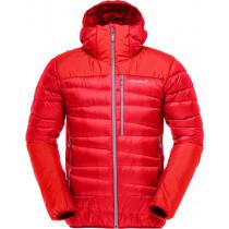 Norrøna Falketind Down750 Hood Jacket Men's Crimson Kick Dunjakke