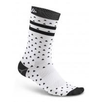 Craft Pattern Sock White/Black