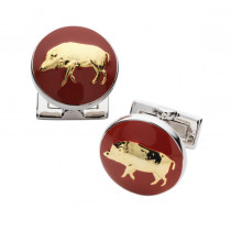 Laksen Boar Cuff Links - Blood Orange