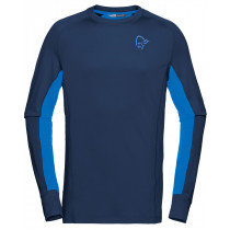 Norrøna Fjørå Powerwool Long Sleeve Men's Indigo Night