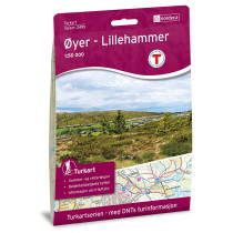 Nordeca Øyer - Lillehammer 1:50 000 Turkart