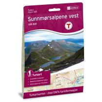 Nordeca Sunnmørsalpene Vest 1:50 000 Turkart