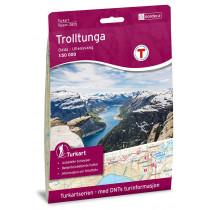 Nordeca Trolltunga, Odda - Ullensvang 1:50 000 Turkart