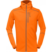 Norrøna Trollveggen Warm/Wool1 Zip Hoodie Men's Pure Orange