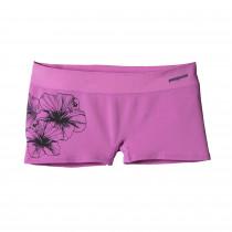 Patagonia Women's Active Mesh Boy Shorts Waterflower Graphic: Mock Purple