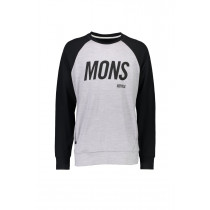 Mons Royale M Covert Tech Sweat Black / Grey Marl