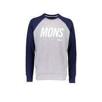 Mons Royale Covert Tech Sweat Navy/Grey Marl