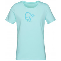 Norrøna /29 Cotton Logo T-Shirt Women's Aqua Splash